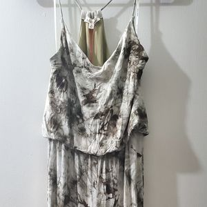 Green tie dyed spaghetti strapped jumpsuit  m NWT
